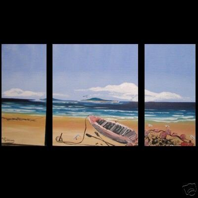 Modern Art Deco oil paintings on Canvas seascape painting set 365