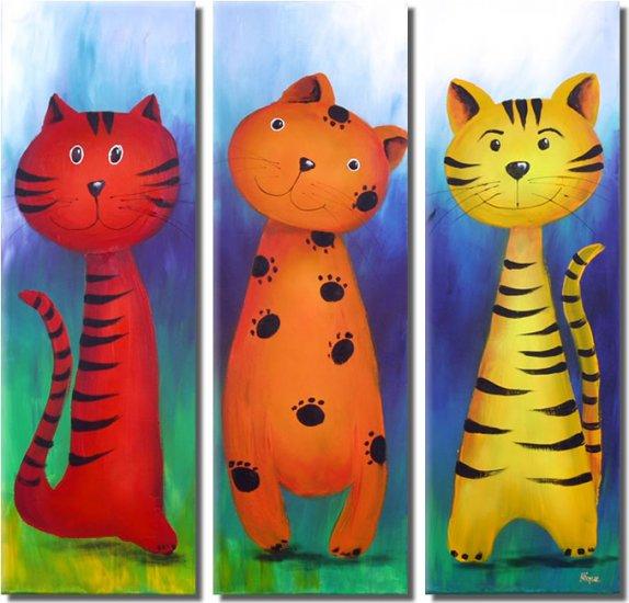 Modern Art Deco oil paintings on Canvas animal painting set 366