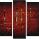 Modern Art Deco oil paintings on Canvas abstract painting set 370