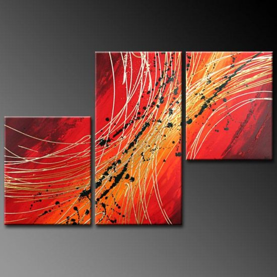 Modern Art Deco oil paintings on Canvas abstract painting set 378