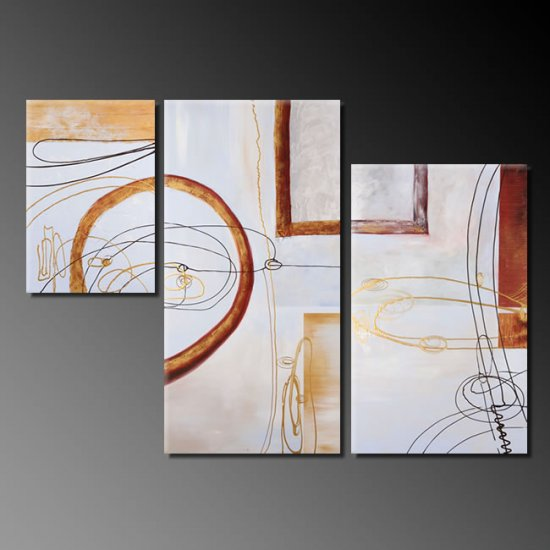 Modern Art Deco oil paintings on Canvas abstract painting set 381