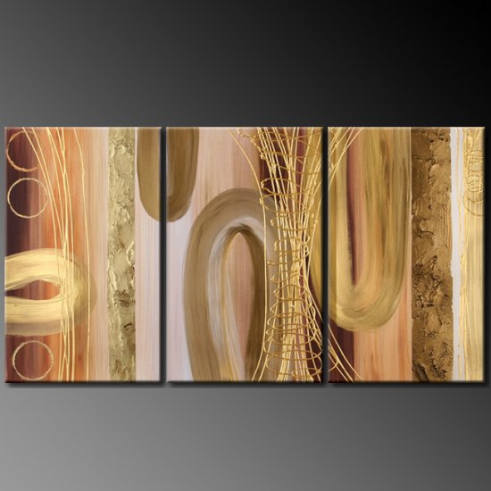 Modern Art Deco oil paintings on Canvas abstract painting set 388
