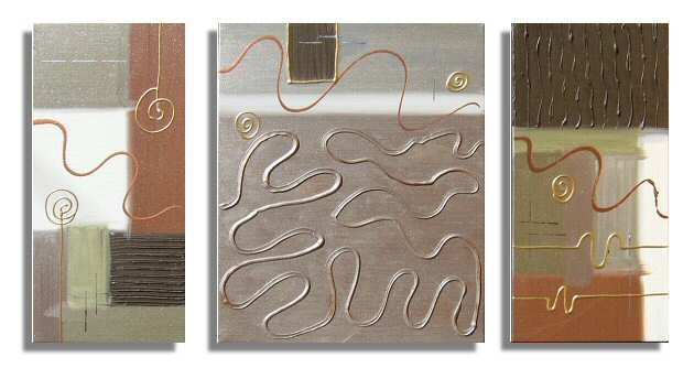 Modern Art Deco oil paintings on Canvas abstract painting set 397