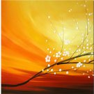 Modern Art Deco oil paintings on Canvas flower painting set 416