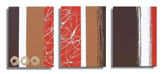 Modern Art Deco oil paintings on Canvas abstract painting set 421