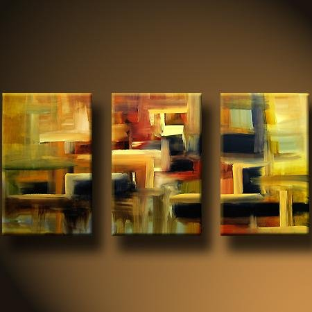 Modern Art Deco oil paintings on Canvas abstract painting set 430