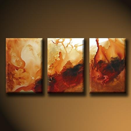 Modern Art Deco oil paintings on Canvas abstract painting set 432