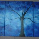 Modern Contemporary oil paintings on Canvas tree painting set 450