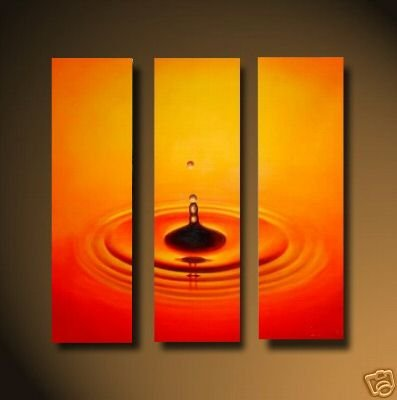 Modern Art Deco oil paintings on Canvas red water drop painting set 457