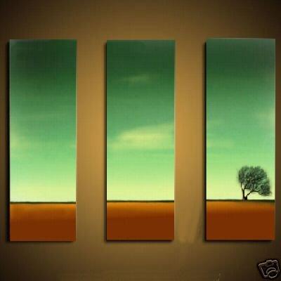 Modern Art Deco oil paintings on Canvas tree painting set 466