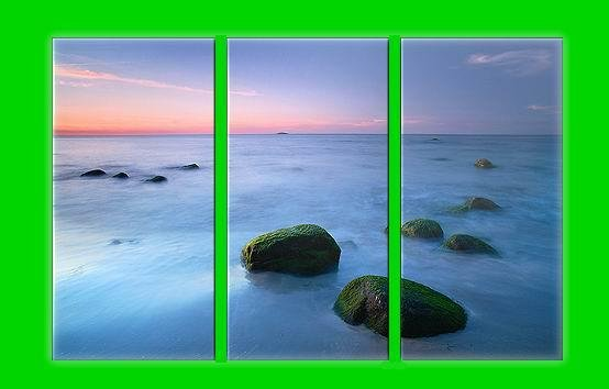 Modern Art Deco oil paintings on Canvas seascape painting set 598