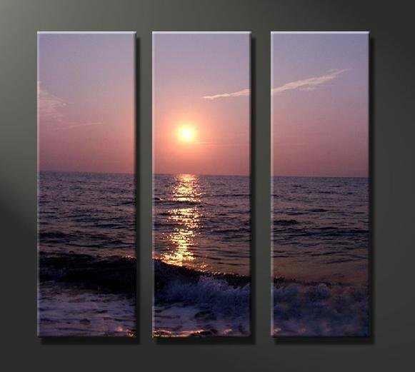 Modern Art Deco oil paintings on Canvas sunset painting set 635