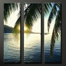 Modern Art Deco oil paintings on Canvas seascape painting set 640