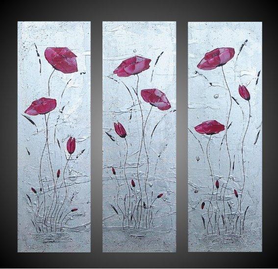 Modern Art Deco oil paintings on Canvas flower painting set 683