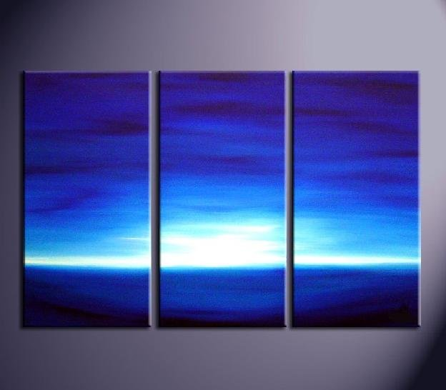 Modern Art Deco oil paintings on Canvas morning glow painting set 701
