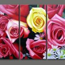 Modern Contemporary oil paintings on Canvas flower painting set 303