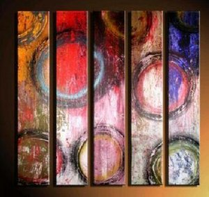 Modern contemporary oil paintings on canvas abstract painting set 723