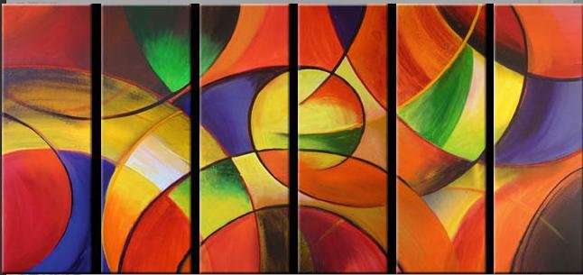 Modern contemporary oil paintings on canvas abstract painting set 728