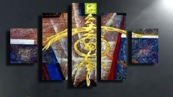 Modern contemporary oil paintings on canvas abstract painting set 731