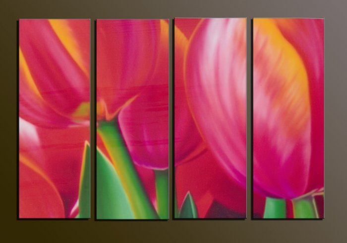 Modern contemporary oil paintings on canvas flower painting set 733
