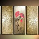 Modern contemporary oil paintings on canvas flower painting set 736