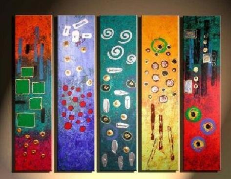 Modern contemporary oil paintings on canvas abstract painting set 737