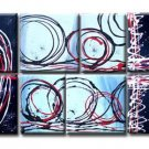 Modern contemporary oil paintings on canvas abstract painting set 739