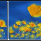 100% handmade Art deco Modern flower oil paintings on Canvas set 09007