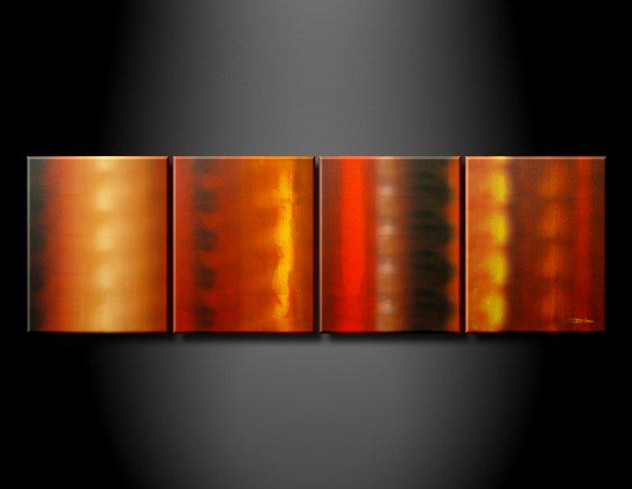 100% handmade Art deco Modern abstract oil paintings on Canvas set 09008