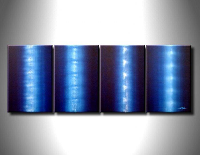 100% handmade Art deco Modern abstract oil paintings on Canvas set 09011