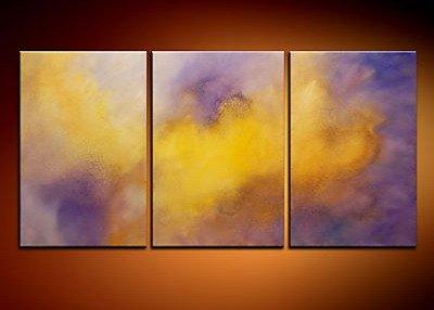 100% handmade Art deco Modern abstract oil paintings on Canvas set 09019