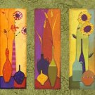 100% handmade Art deco Modern flower oil paintings on Canvas set 09023