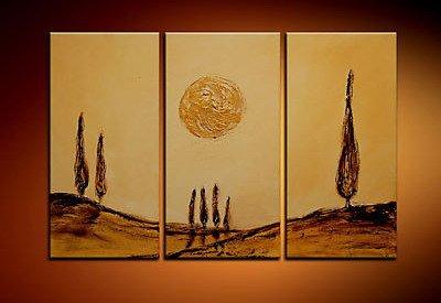 100% handmade Art deco Modern abstract oil paintings on Canvas set 09030