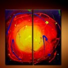 Handmade Art deco Modern abstract oil painting on Canvas set 09036
