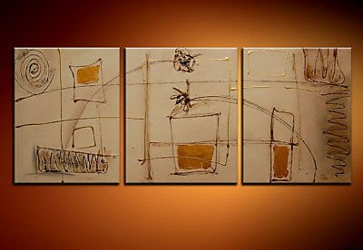 Handmade Art deco Modern abstract oil painting on Canvas set 09038