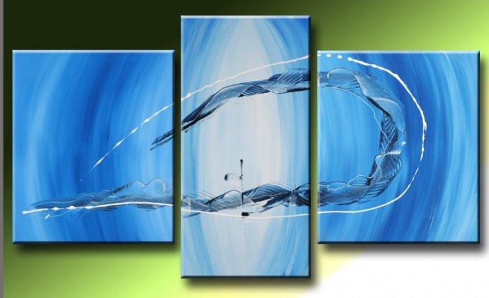 Handmade Art deco Modern abstract oil painting on Canvas set 09048