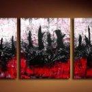 Handmade Art deco Modern abstract oil painting on Canvas set 09051