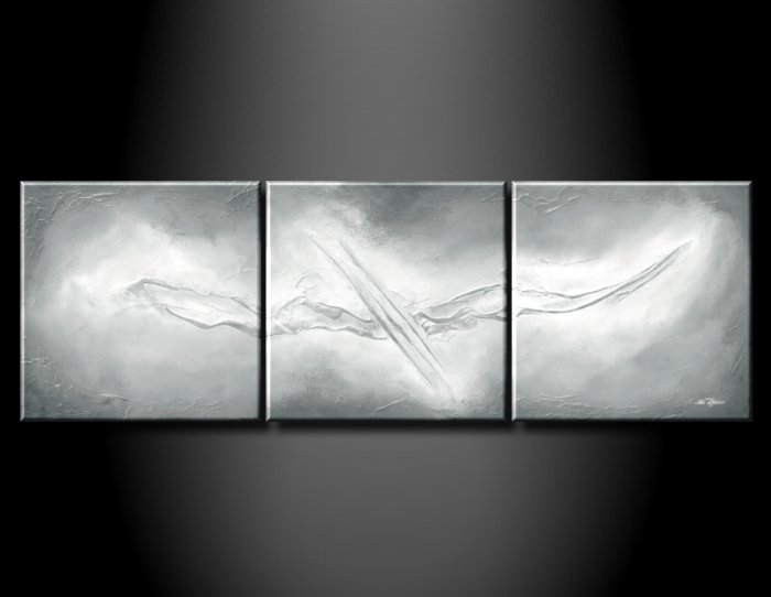 Handmade Art deco Modern abstract oil painting on Canvas set 09055