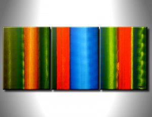 Handmade Art deco Modern abstract oil painting on Canvas set 09057