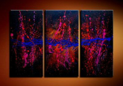 Handmade Art deco Modern abstract oil painting on Canvas set 09060