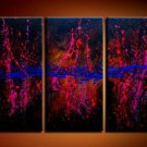 Handmade Art deco Modern abstract oil painting on Canvas set 09060