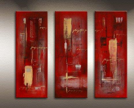 Handmade Art deco Modern abstract oil painting on Canvas set 09064