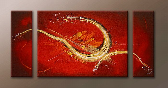 Handmade Art deco Modern abstract oil painting on Canvas set 09068