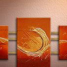 Handmade Art deco Modern abstract oil painting on Canvas set 09070