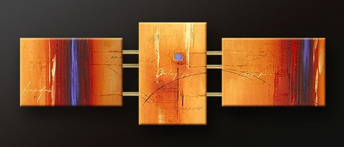 Handmade Art deco Modern abstract oil painting on Canvas set 09071