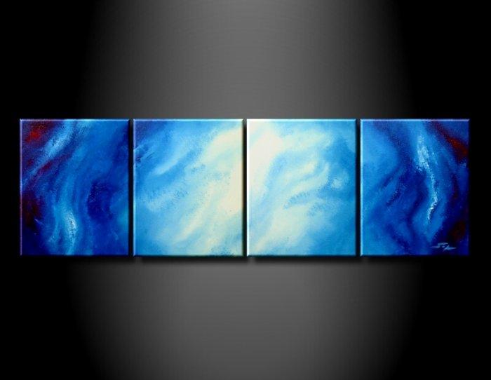 Handmade Art deco Modern abstract oil painting on Canvas set 09211