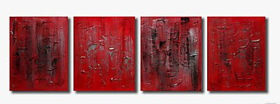 Handmade Art deco Modern abstract oil painting on Canvas set 09230