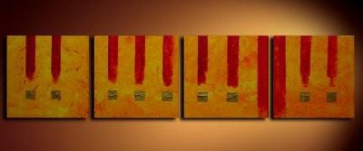 Handmade Art deco Modern abstract oil painting on Canvas set 09231