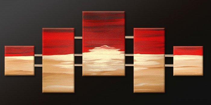 Handmade Art deco Modern abstract oil painting on Canvas set 09181