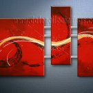 Handmade Art deco Modern abstract oil painting on Canvas set 09084